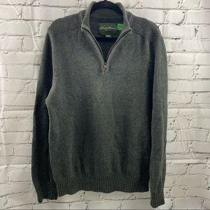 Eddie Bauer men's 1/4 zip sweater